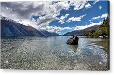 Lake Wakatipu Acrylic Print by Shari Mattox