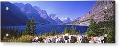 Lake With Mountain Range Acrylic Print by Panoramic Images