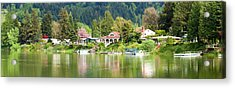 Lakefront Properties, Woodland Acrylic Print by Panoramic Images