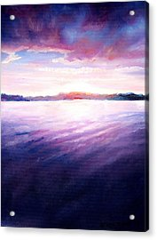 Lakeside Sunset Acrylic Print by Shana Rowe Jackson