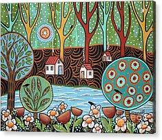 Lakeside1 Acrylic Print by Karla Gerard