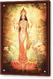 Lakshmi Goddess Of Fortune Vintage Acrylic Print by Ananda Vdovic
