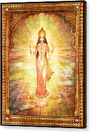 Lakshmi The Goddess Of Fortune And Abundance Acrylic Print by Ananda Vdovic