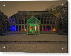 Lamberton Conservatory At Night Acrylic Print by Dan Dangler