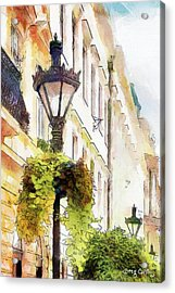 Lampaoszlop Acrylic Print by Greg Collins