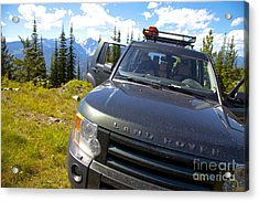 Land Rover Acrylic Print by Graham Foulkes