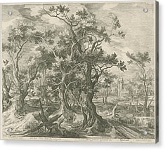 Landscape With A Prophet Torn By A Lion From Judah Acrylic Print by Jan Van Londerseel And Gillis Claesz. De Hondecoeter And Claes Jansz. Visscher Ii