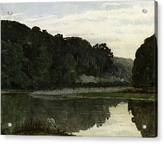 Landscape With Heron Acrylic Print by William Frederick Yeames