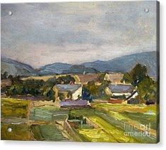 Landschaft In North Austria Acrylic Print by Egon Schiele
