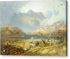 Langdale Pikes, From The English Lake Acrylic Print by James Baker Pyne