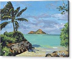 Lanikai Beach Path Acrylic Print by Stacy Vosberg