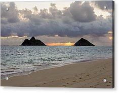 Lanikai Beach Sunrise 4 - Kailua Oahu Hawaii Acrylic Print by Brian Harig