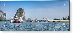 Lanta Island Dock Acrylic Print by Adrian Evans