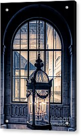 Lantern And Arched Window Acrylic Print by Edward Fielding