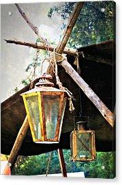 Lanterns Acrylic Print by Marty Koch