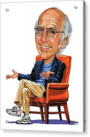 Larry David Acrylic Print by Art