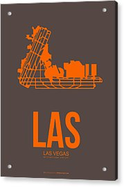 Las Las Vegas Airport Poster 1 Acrylic Print by Naxart Studio