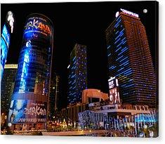 Las Vegas - Aria And Cosmopolitan 001 Acrylic Print by Lance Vaughn