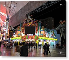Las Vegas - Fremont Street Experience - 12128 Acrylic Print by DC Photographer