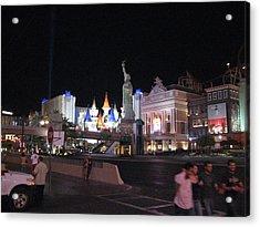 Las Vegas - New York New York Casino - 12129 Acrylic Print by DC Photographer
