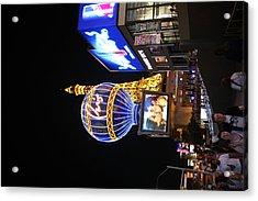 Las Vegas - Paris Casino - 121216 Acrylic Print by DC Photographer