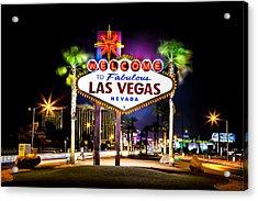Las Vegas Sign Acrylic Print by Az Jackson
