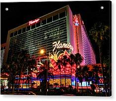 Las Vegas - The Flamingo 001 Acrylic Print by Lance Vaughn