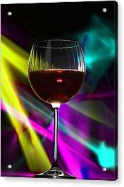 Laser Wine Acrylic Print by Dennis James