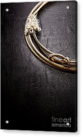 Lasso On Leather Acrylic Print by Olivier Le Queinec