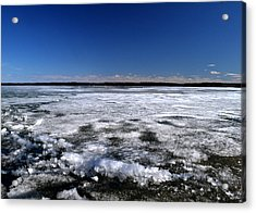Last Day Of Ice On The Lake 3 Acrylic Print by Lyle Crump