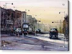 Last Light - College Ave. Acrylic Print by Ryan Radke