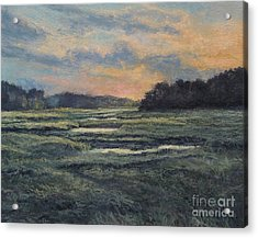 Last Light On The Marsh - Wellfleet Acrylic Print by Gregory Arnett