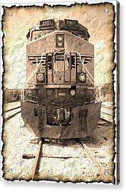 Last Train Acrylic Print by Wendy J St Christopher