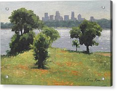 Late Afternoon At Winfrey Point Acrylic Print by Anna Rose Bain