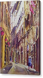 Late Afternoon In Florence Acrylic Print by Jenny Armitage