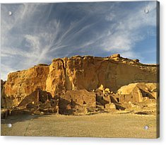 Late Afternoon In Pueblo Bonito Acrylic Print by Feva  Fotos