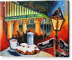 Late At Cafe Du Monde Acrylic Print by Diane Millsap