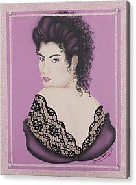 Latin Lace Acrylic Print by Nickie Bradley
