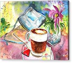 Latte Macchiato In Italy 01 Acrylic Print by Miki De Goodaboom