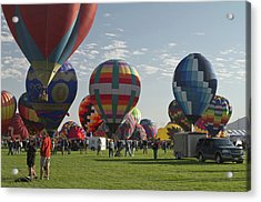 Launch At  The Albuquerque Hot Air Acrylic Print by William Sutton
