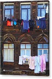 Laundry Istanbul Acrylic Print by Lutz Baar