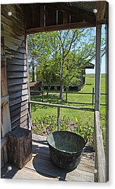Laura Plantation Slaves Porch Acrylic Print by Joseph Semary
