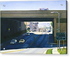Laurel Street Bridge San Diego Acrylic Print by Mary Helmreich