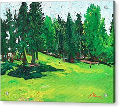 Laurelhurst Park Acrylic Print by Joseph Demaree