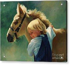 Lauren's Pony Acrylic Print by Laurie Hein