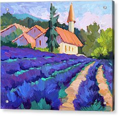 Lavender Field In St. Columne Acrylic Print by Diane McClary