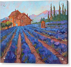 Lavender Field Provence Acrylic Print by Diane McClary