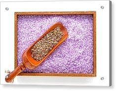 Lavender Seeds And Bath Salts Acrylic Print by Olivier Le Queinec