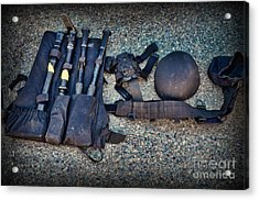 Law Enforcement -swat Gear - Entry Tools Acrylic Print by Paul Ward