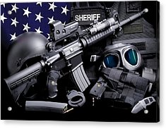 Law Enforcement Tactical Sheriff Acrylic Print by Gary Yost